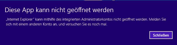Windows 8.1 - Diese App kann nicht geöffnet werden