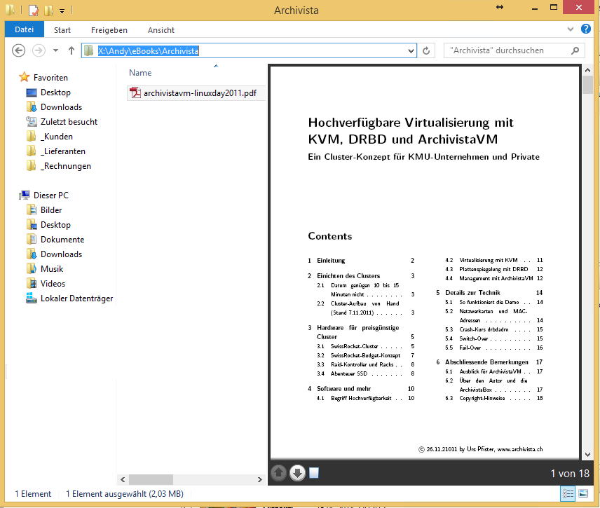 Windows-Explorer - PDF-Vorschau