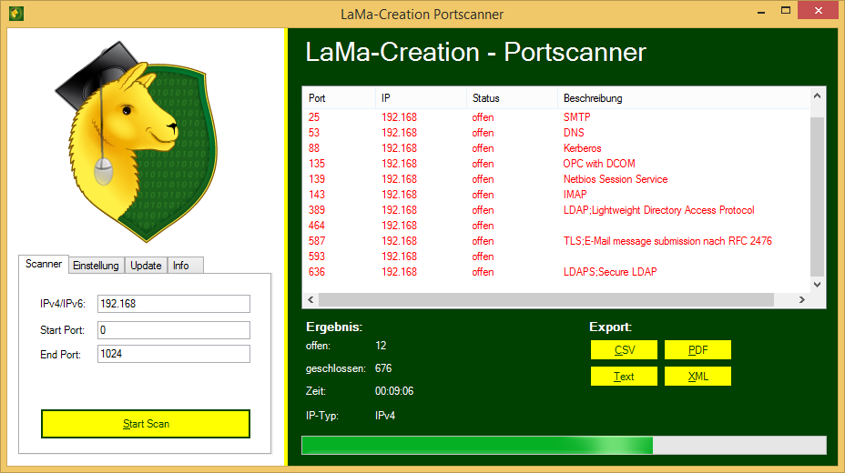 LaMa-Creation Portscanner 3.0