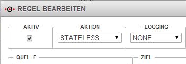"Securepoint UTM - Portfilter - Aktion ""Stateless"""
