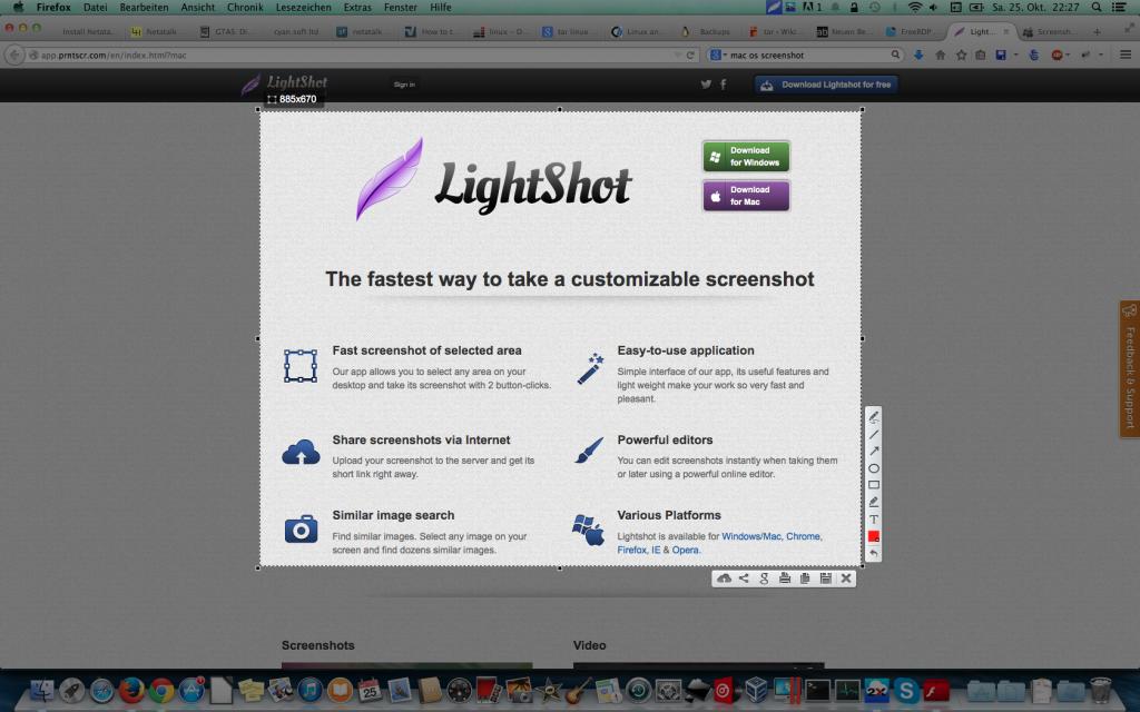 Lightshot unter Mac OS