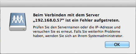 Mac OS X - Fehler beim Zugriff auf eine NFS-Freigabe