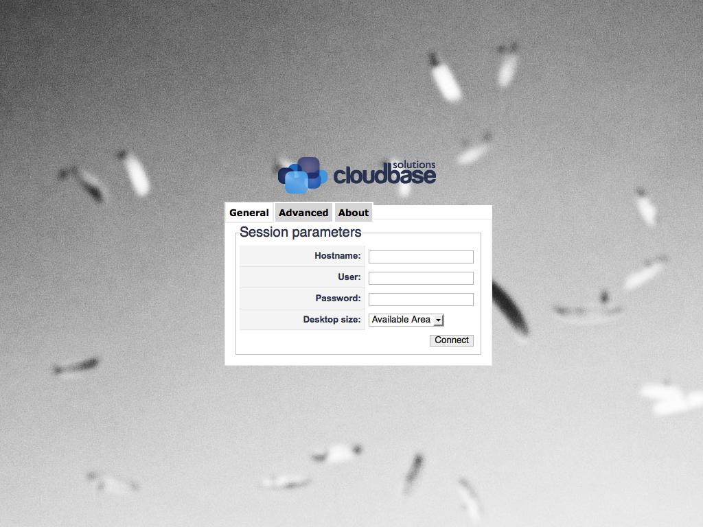 cloudbase - FreeRDP - Anmeldeseite