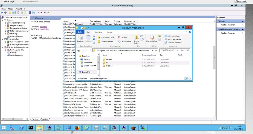 cloudbase - FreeRDP - Google Chrome zu Windows Server 2012 R2