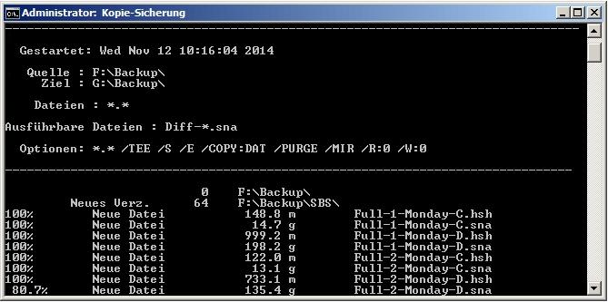 Robocopy - Ausführbare Dateien