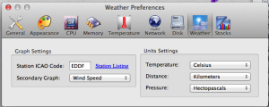 XRG - Weather Preferences