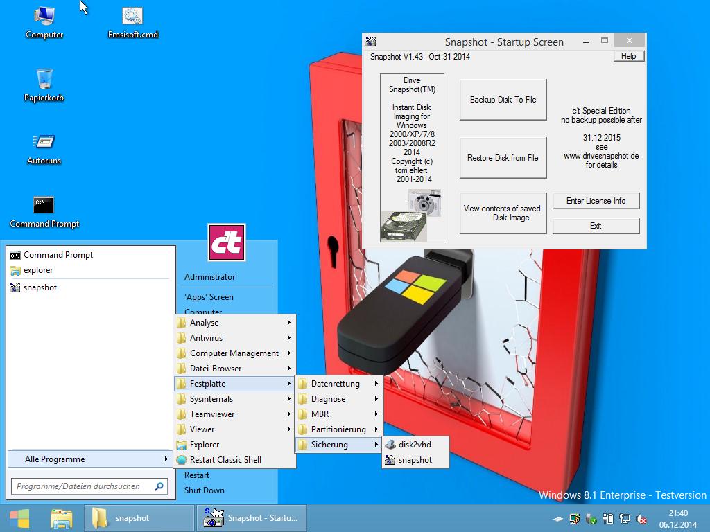 ct - Notfall-Windows -  Drive Snapshot