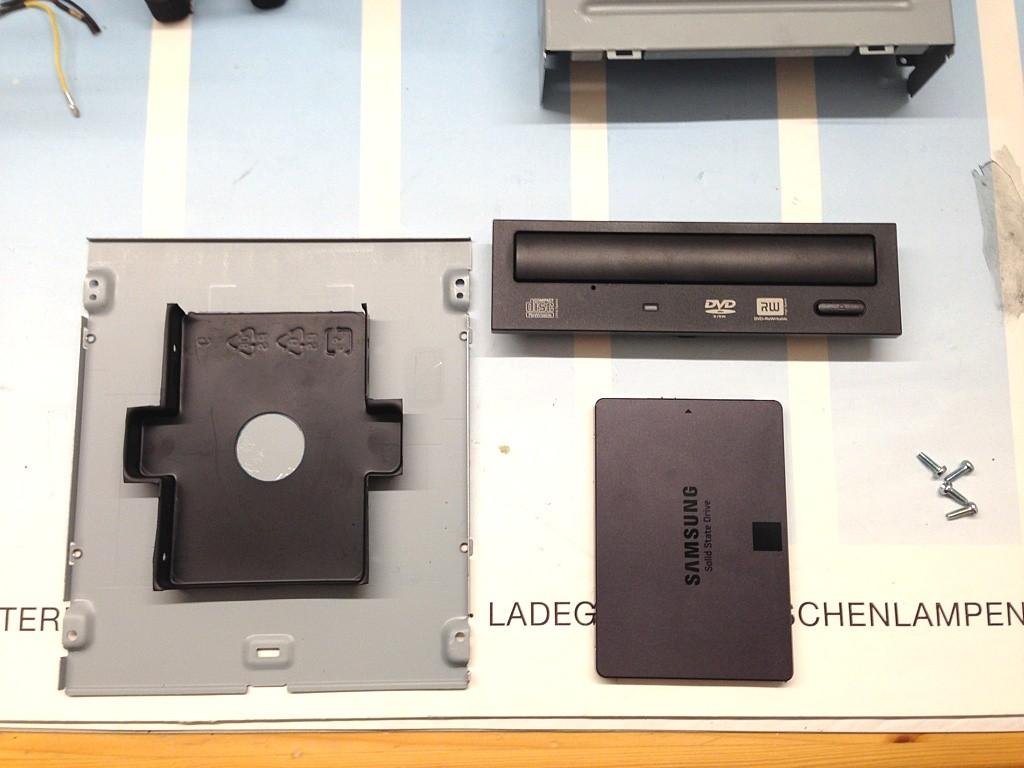 DIY SSD 5.25-Halterung - Übersicht