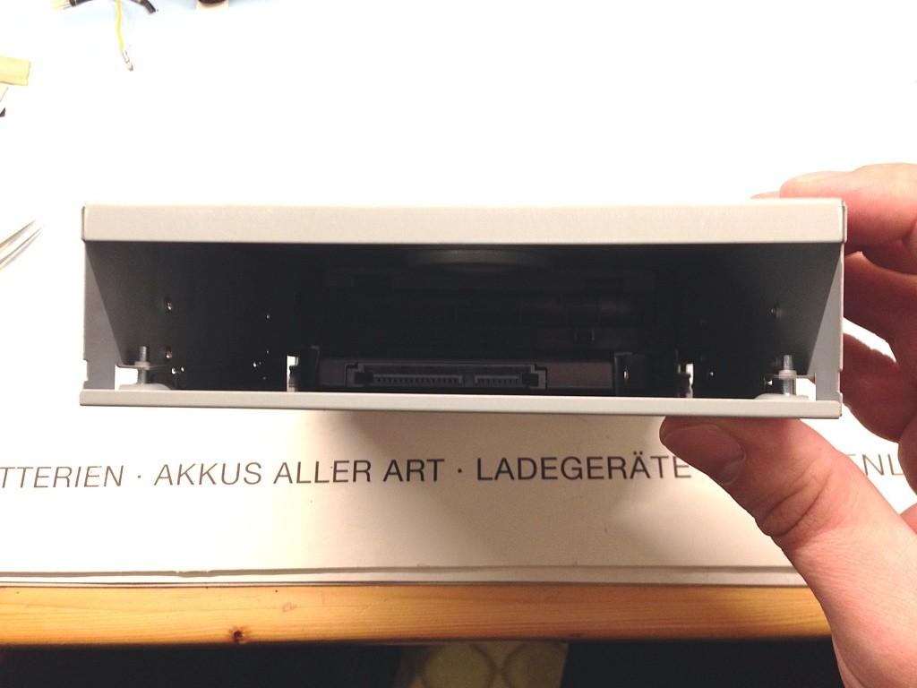 DIY SSD 5.25 - montiert - Rückansicht