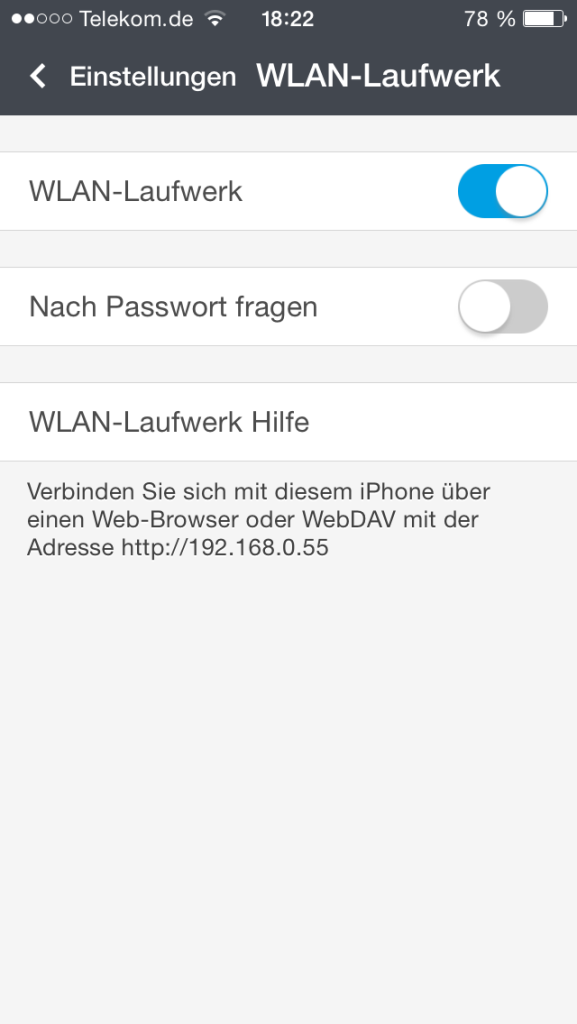 Documents - WLAN-Laufwerk
