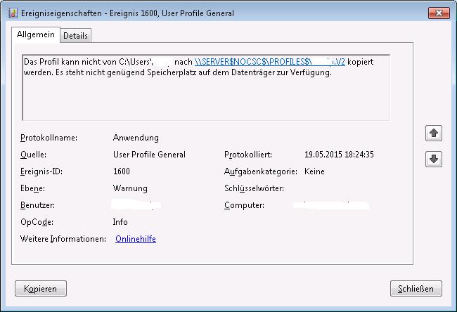 Event-ID 1600