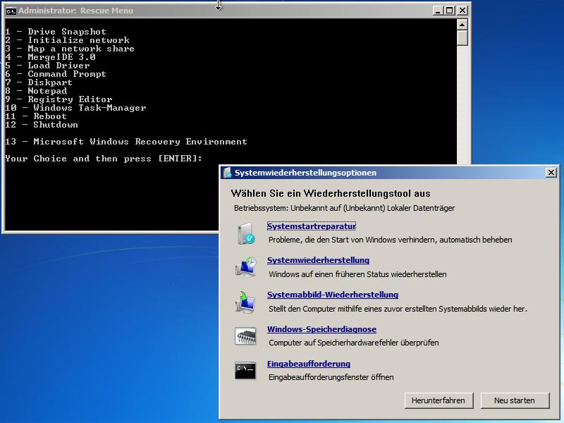 Windows 7 - Systemreparaturdatenträger inkl. Drive Snapshot