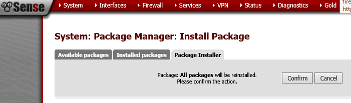 pfSense - Restore - Install Packages