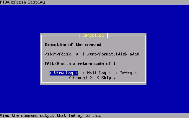pfSense - Hyper-V - fdisk-error
