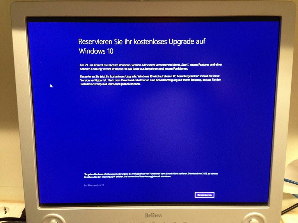Neuer PC - Windows 10 reservieren