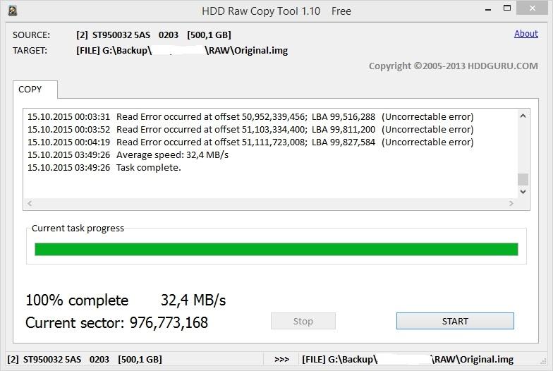HDD Raw Copy Tool 1.10
