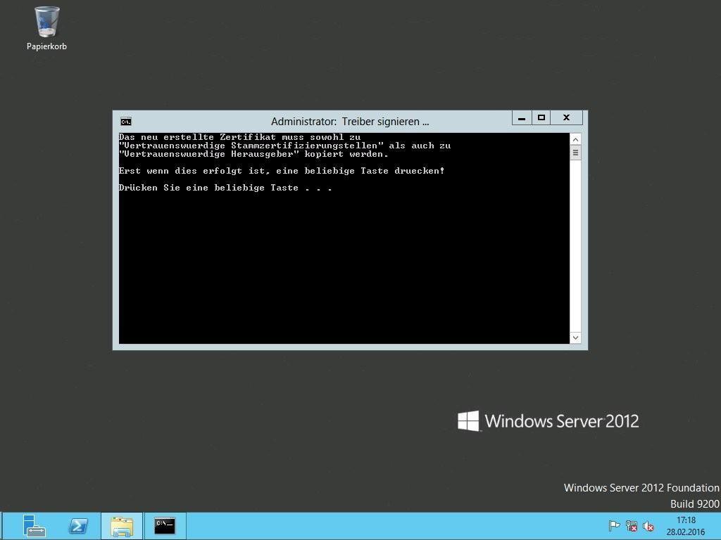 Hyper-V - Foundation-Server - Treiber signieren-SigTool