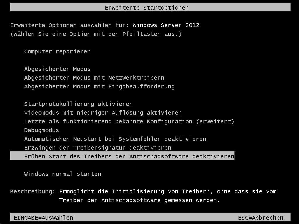 Windows Server - F8 - AV