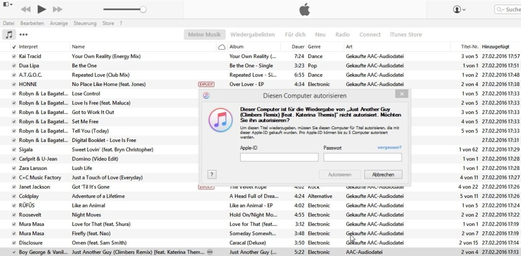 iTunes - AAC-Audiodatei