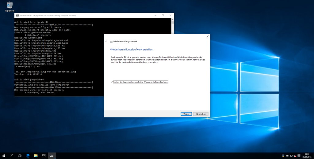 Windows 10 - Rettungsmedium mit Drive Snapshot