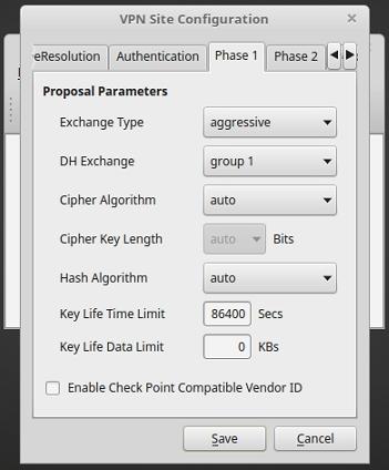 Shrew Soft VPN Client unter Linux Mint