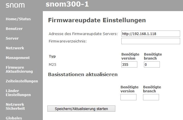 Snom M300 - Firmware Aktualisierung