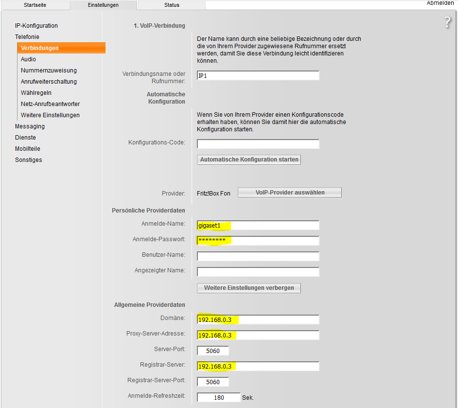 Gigaset IP DECT Basis an FRITZBox anmelden – Andy's Blog
