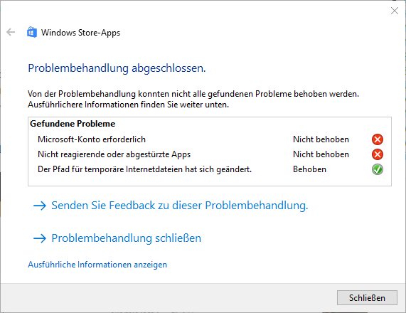 Windows 10: Startmenü, Suche und Info-Center funktionieren
